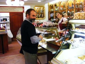 At Marzipan place, Budapest, 2009